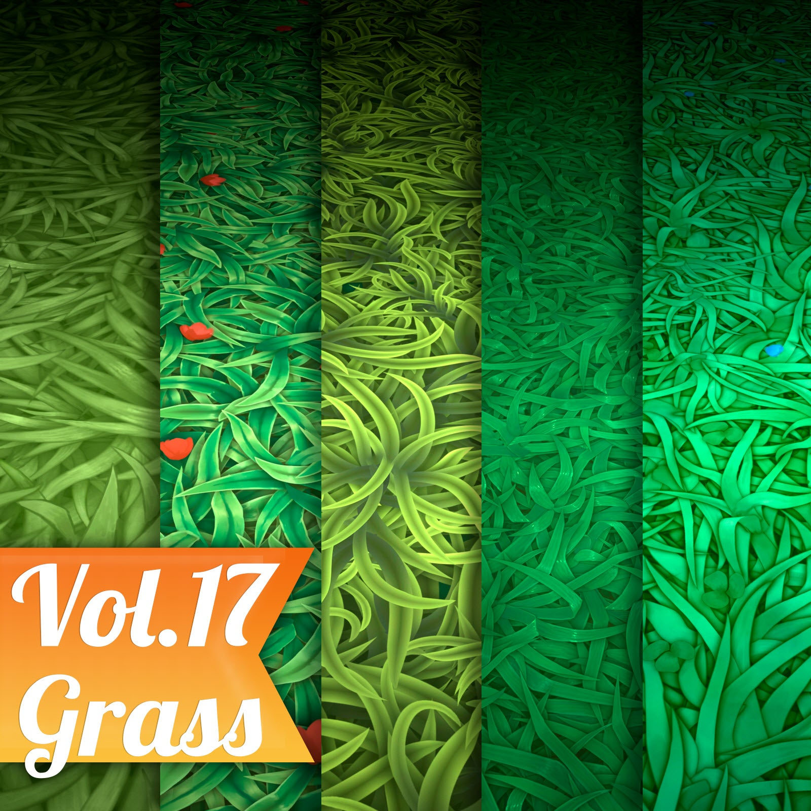 Grass Vol.17 - Hand Painted Texture Pack