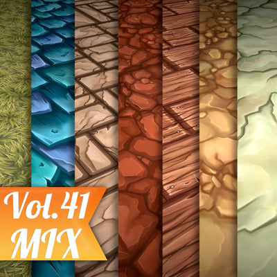 Mix Vol.41 - Hand Painted Texture Pack - LowlyPoly