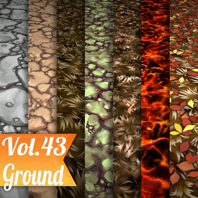 Ground Vol.43 - Hand Painted Texture Pack - LowlyPoly
