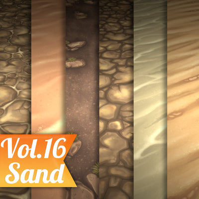 Sand Vol.16 - Hand Painted Texture Pack