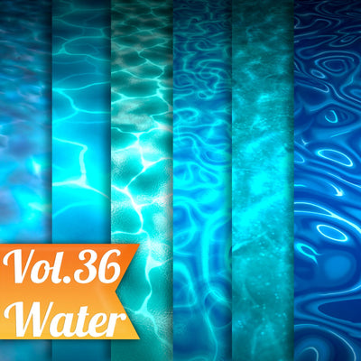 Water Vol.36 - Hand Painted Textures - LowlyPoly