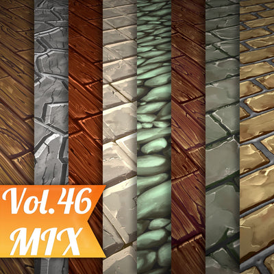 Mix Vol.46 - Hand Painted Texture Pack - LowlyPoly