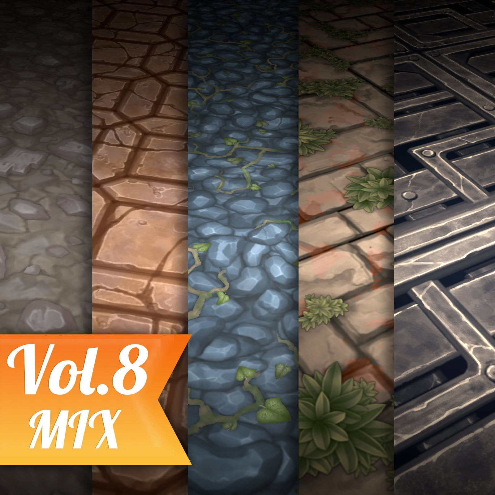 Ground Vol.08 - Hand Painted Texture Pack