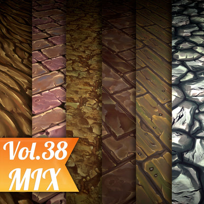 Mix Vol.38 - Hand Painted Textures - LowlyPoly