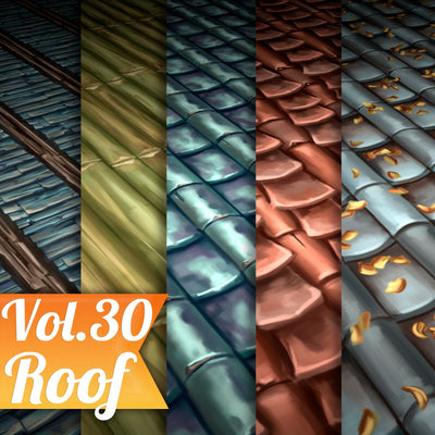 Roof Vol.30 - Hand Painted Texture - LowlyPoly