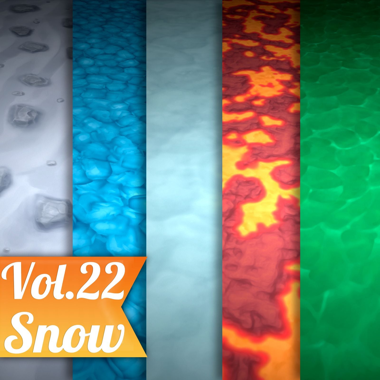 Ground Vol.22 - Hand Painted Texture Pack - LowlyPoly