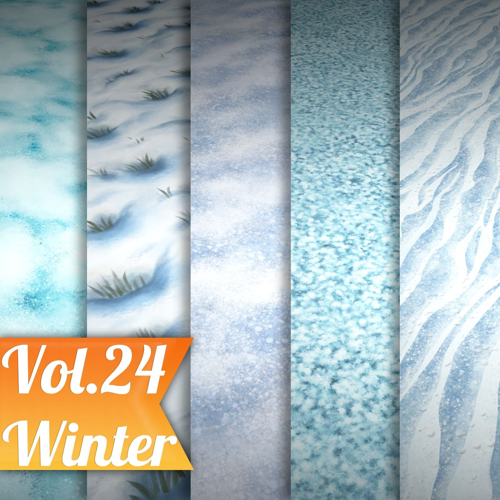 Snow Vol.24 - Hand Painted Texture Pack - LowlyPoly