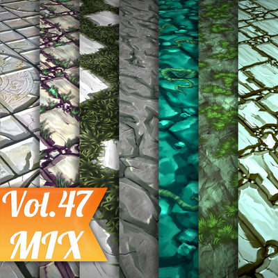 Mix Vol.47 - Hand Painted Texture Pack