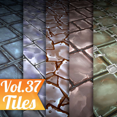 Tiles Vol.37 - Hand Painted Textures