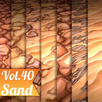 Sand Vol.40 - Hand Painted Texture Pack - LowlyPoly