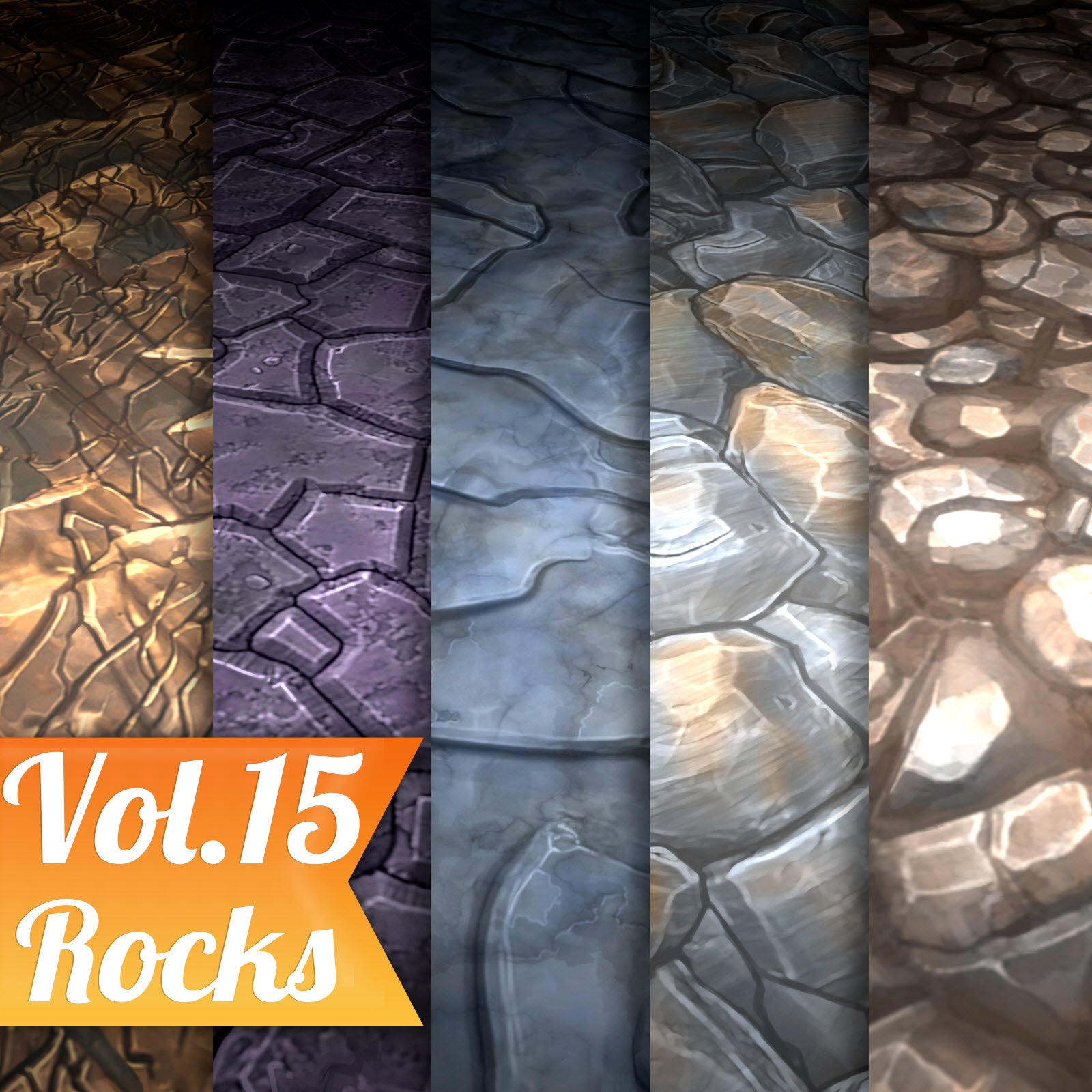 Rocks Vol.15 - Hand Painted Texture Pack