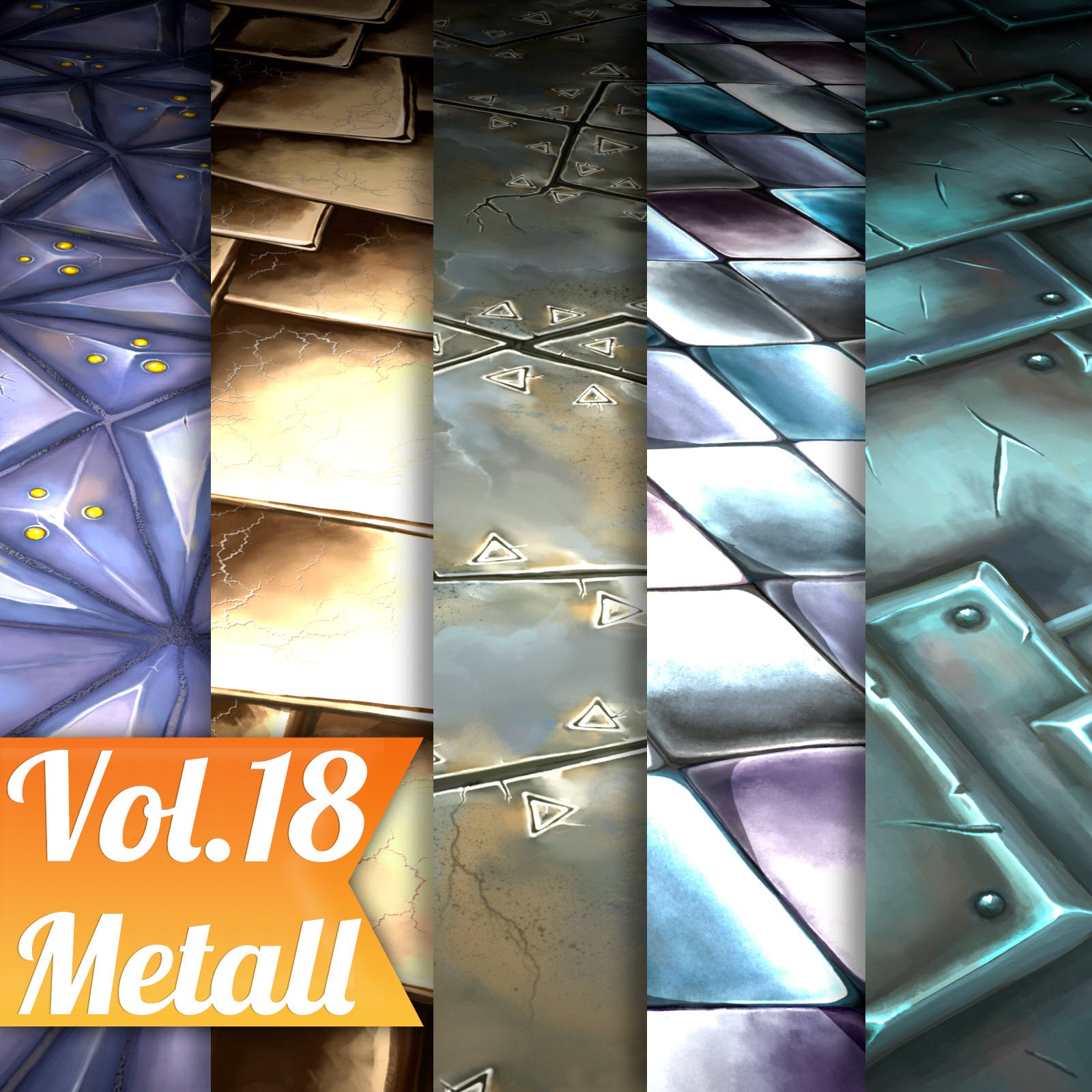 Metal Vol.18 - Hand Painted Texture Pack - LowlyPoly