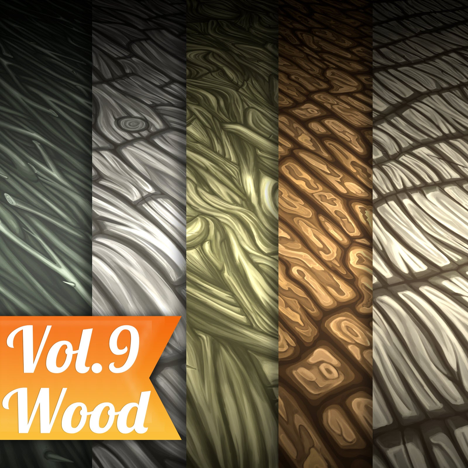 Wood Vol.09 - Hand Painted Texture Pack - LowlyPoly