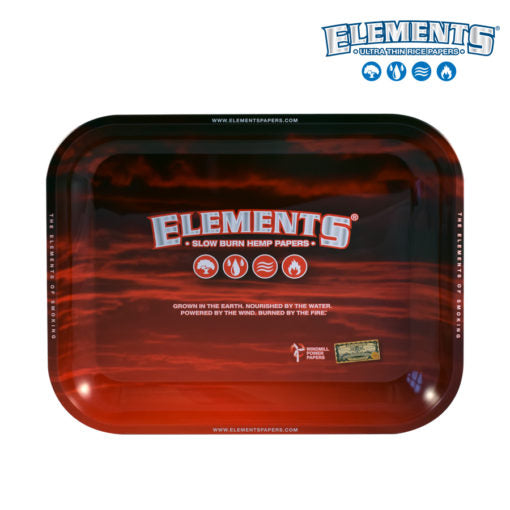 Elements Red Rolling Trays