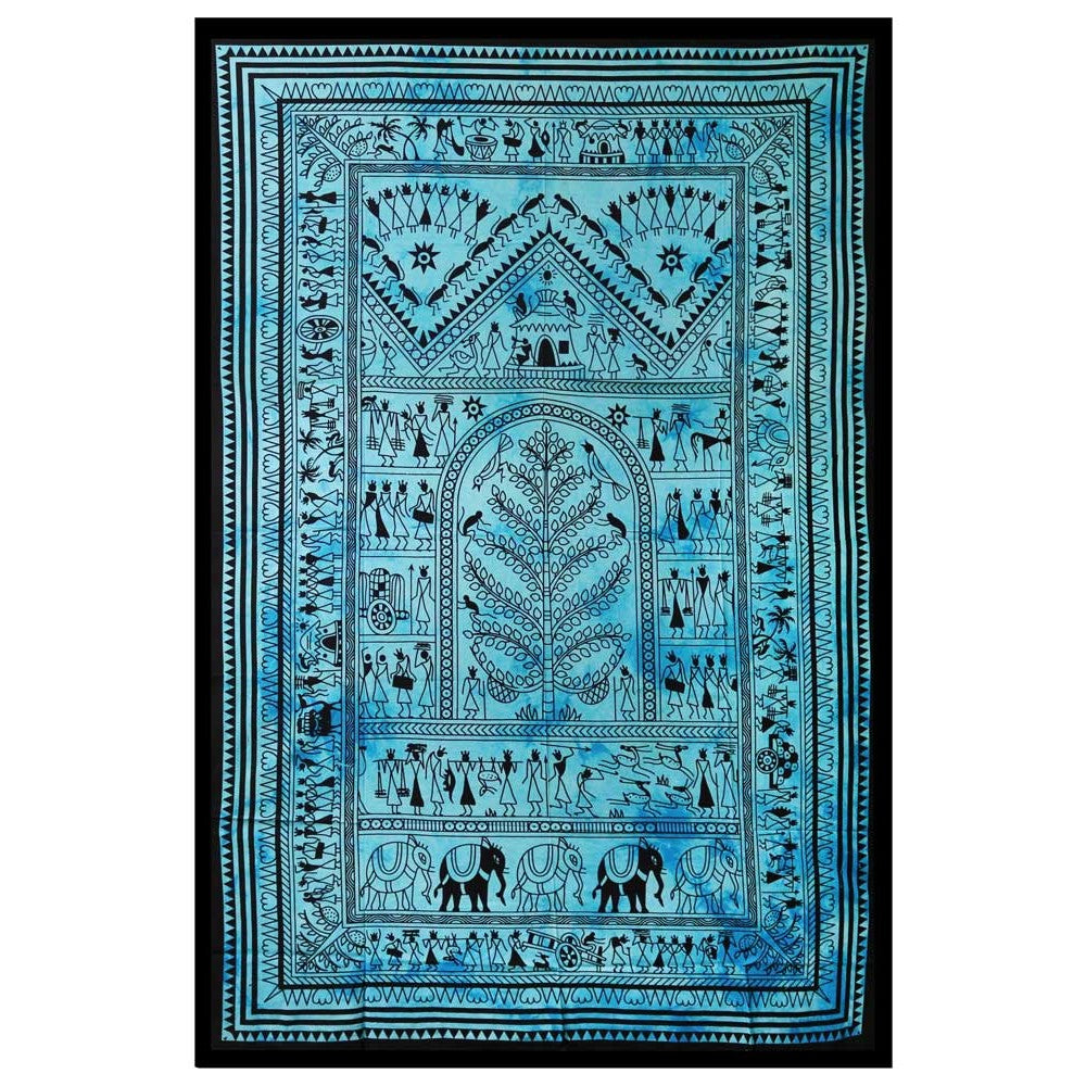 Ancient Village Tapestry