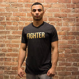 Fighter Tee- Gray/Gold