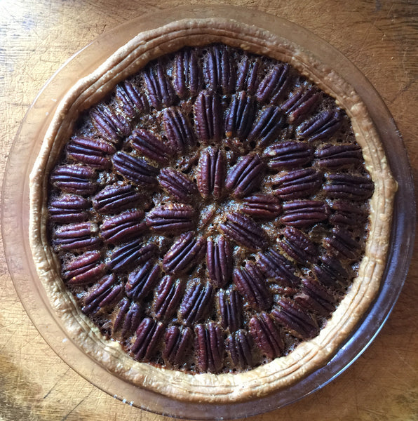 Chocolate Pecan Pie w/ Bourbon