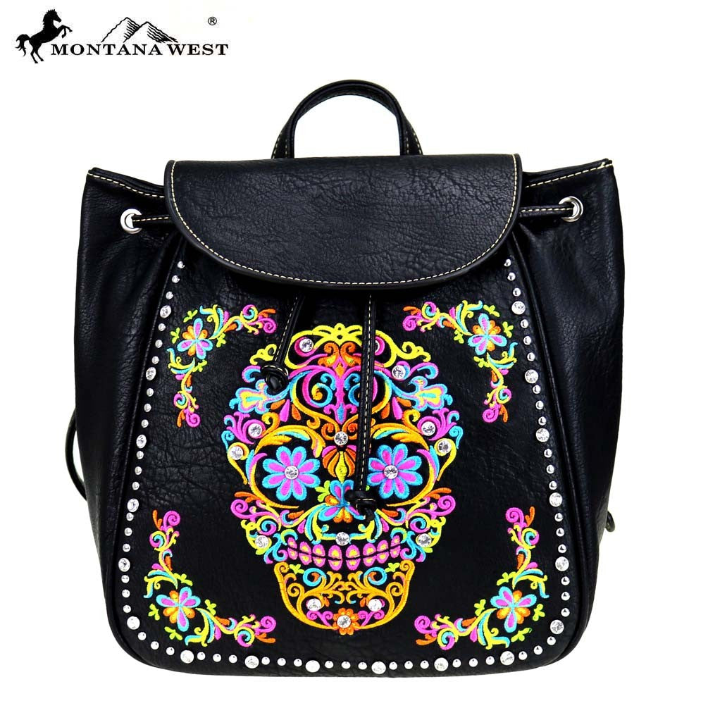 MW326 9110 Montana West Sugar Skull Collection Backpack