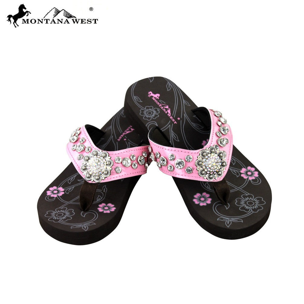 4cb2d966b0bd SE17-S001 Pink Bling Bling Collection Flip Flops (Thin Sole ...