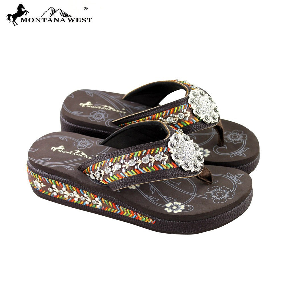 4e4c34bec295e8 SE18-S001 CF Montana West Embroidery Bling Bling Collection Flip Flops –  EverythingAnythingShop.com