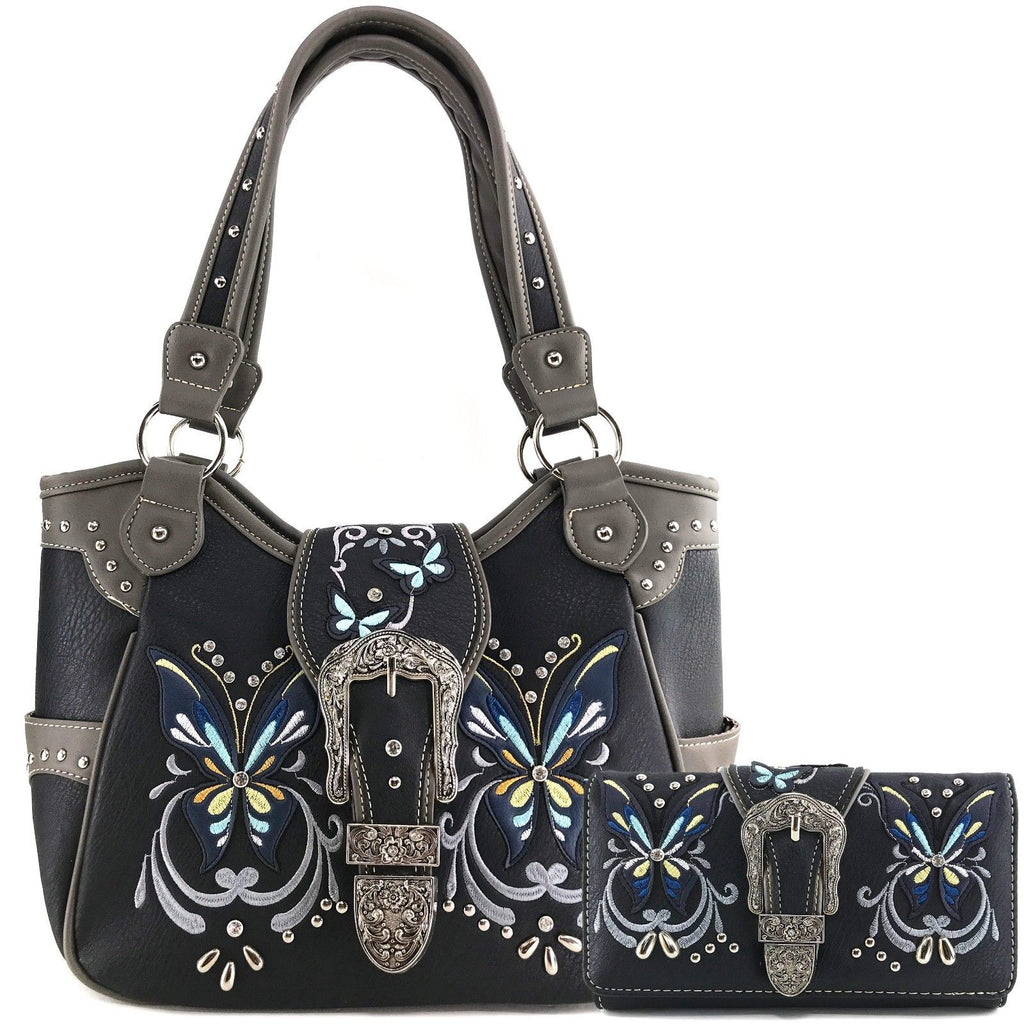 59d22ac33ed575 Western Style Butterfly Tooled Buckle Concealed Carry Purse Country Ha –  EverythingAnythingShop.com