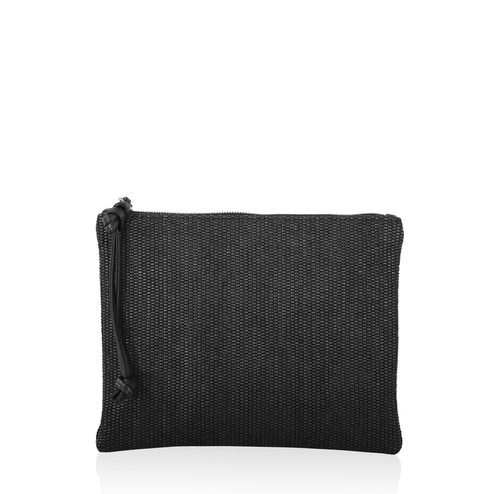 Highline Clutch Intreccio Fabric Black