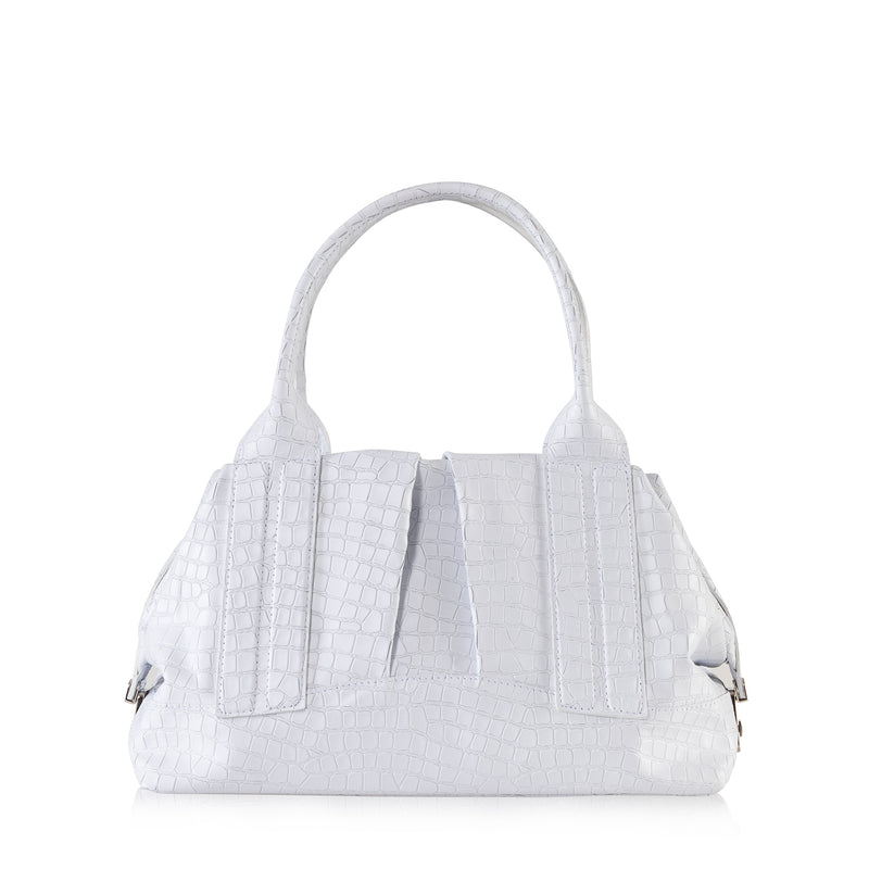 Cast Away (White Croco Embossed Leather)