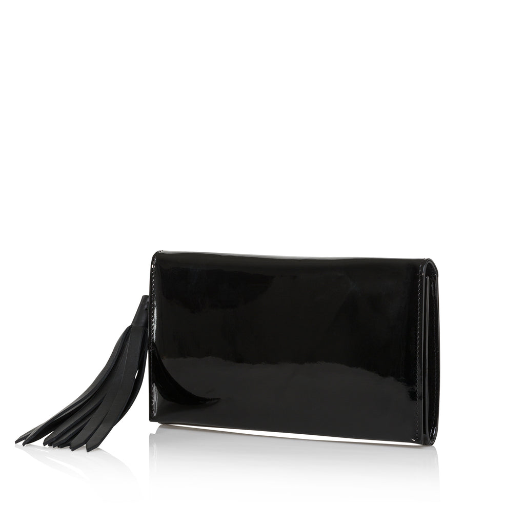 Opera Clutch (Black Patent)