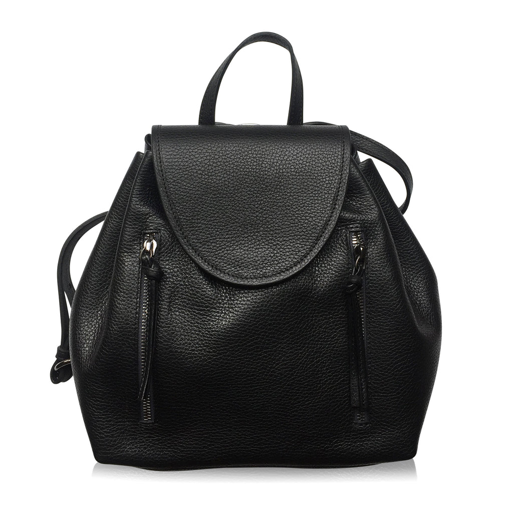 High Line Backpack (Black Pebbled Leather)