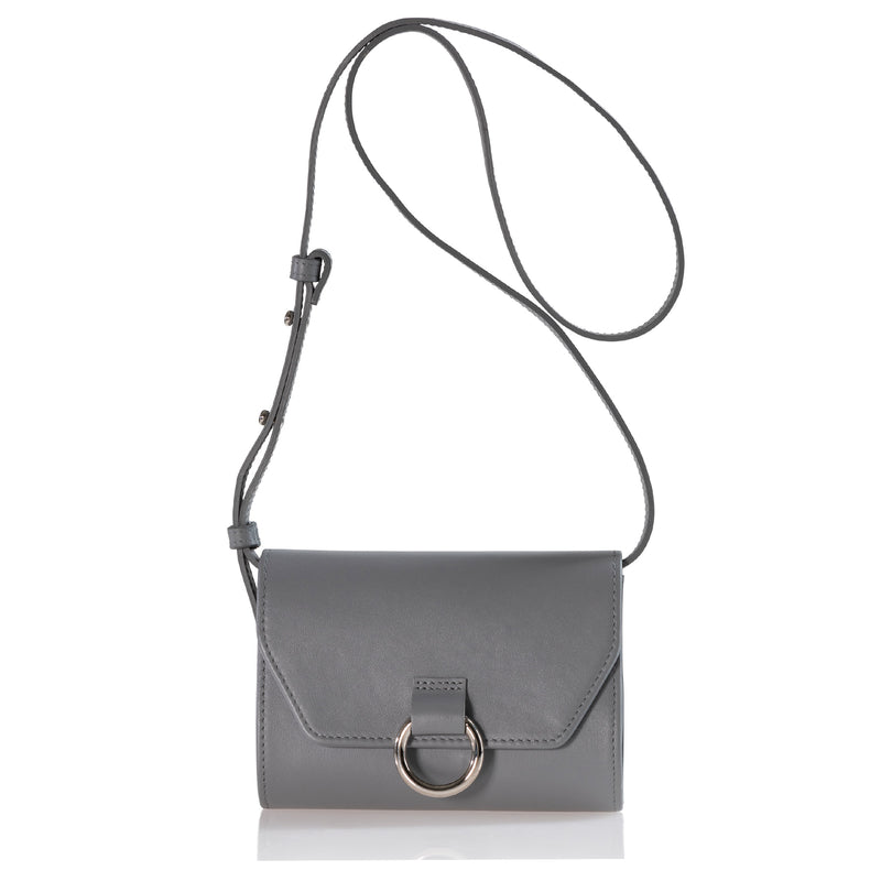 Lady O Mini Bag (Grey Leather)