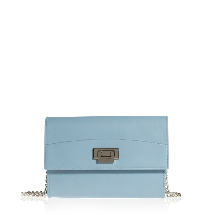 Trophy Chain Shoulder Bag (Sky Blue)