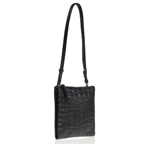 Edit Utility Bag (Black Croc Leather)