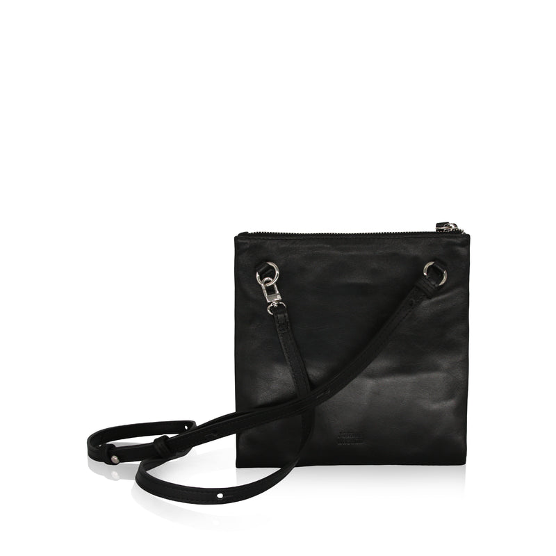 Edit Utility Bag (Black Smooth Leather)
