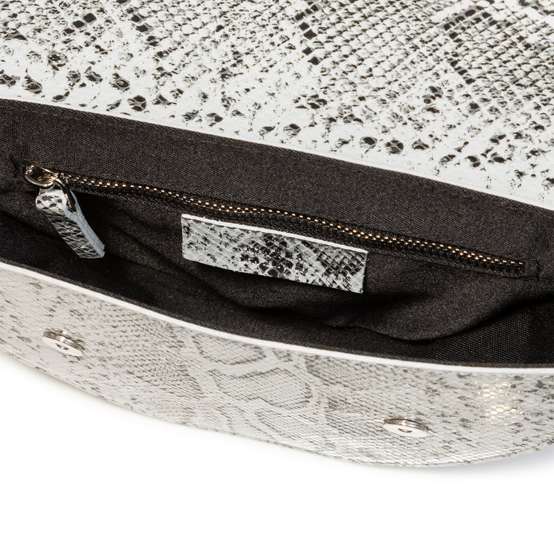Lune Saddle Bag (Black & White)
