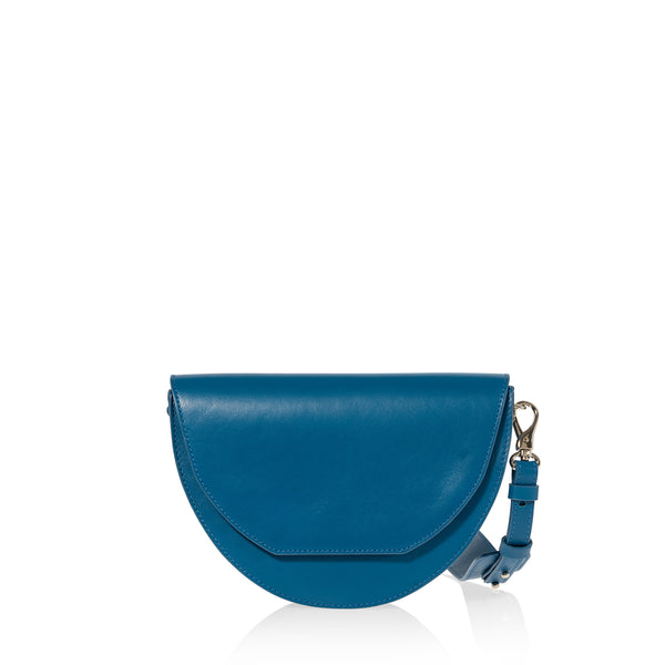 JOANNA MAXHAM Lune Saddle Bag in Reef Blue