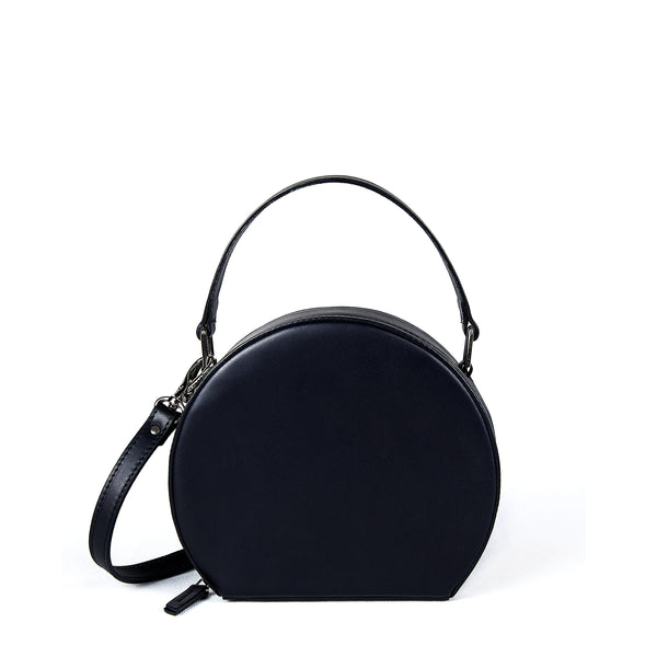 JOANNA MAXHAM The Hatter Crossbody Bag in Black Leather