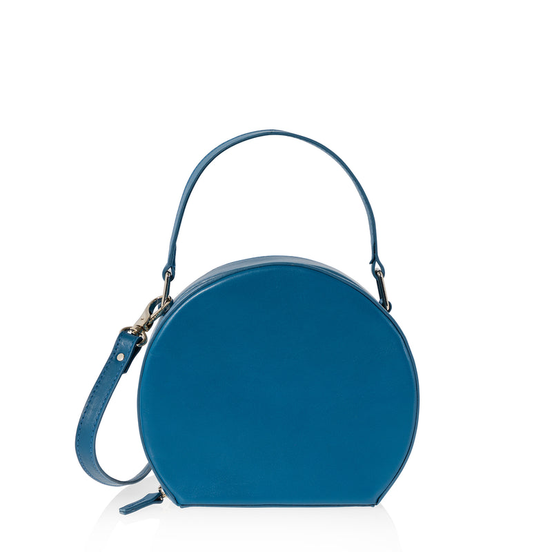 JOANNA MAXHAM The Hatter Crossbody Bag in Reef Blue Leather