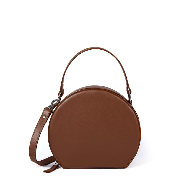 JOANNA MAXHAM The Hatter Crossbody Bag in Saddle Leather