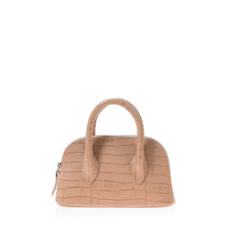 Mini Lady D (Beige Croc Embossed Leather)