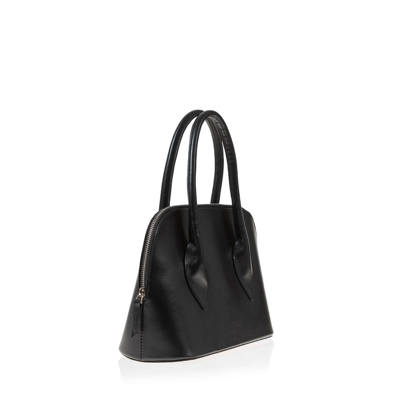 Lady D Satchel (Black Leather)
