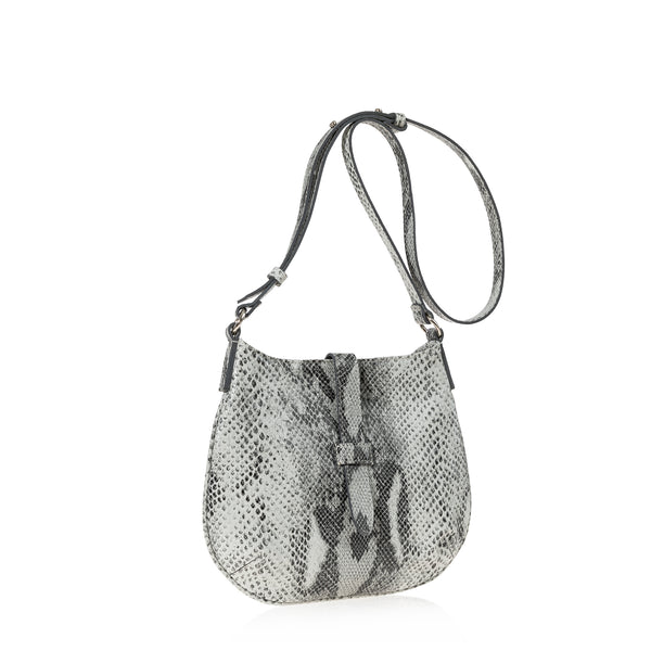 Tulip Crossbody Bag (Grey Snake Wash)