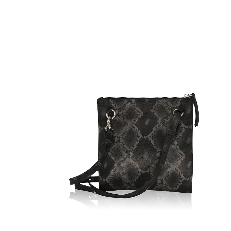 Edit Utility Bag (Black Boa Snake Print Leather)