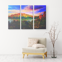 Orange Kingdom - 3 Piece Canvas - psychedelic art