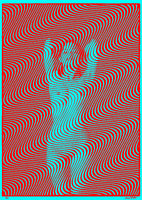 Wavy 26 - Red Blue Edition - psychedelic art