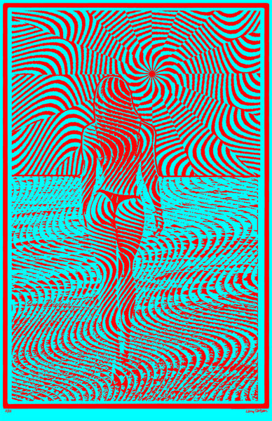 Wavy 49 - Red Blue Edition - psychedelic art