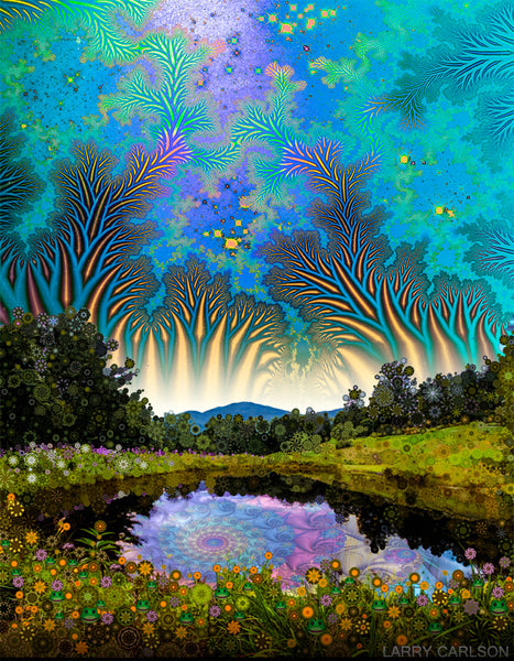 Wonderland Pond - psychedelic art