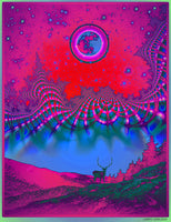 Full Buck Moon - Ultraviolet Edition - psychedelic art