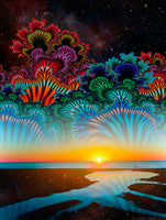 Daybreak at the Edge of Universe - psychedelic art