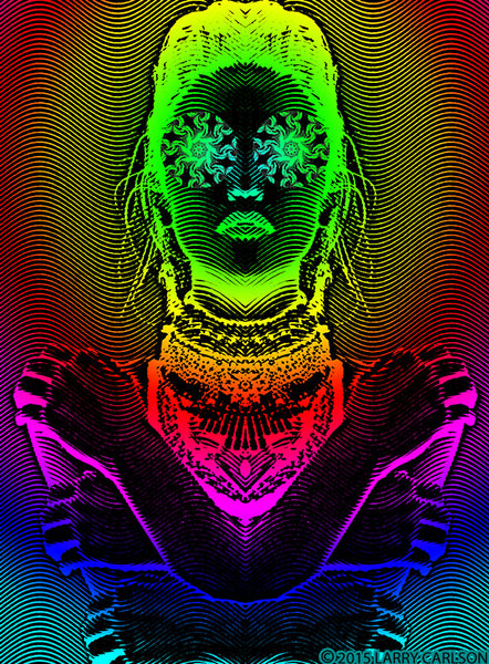 Hathor Rising - psychedelic art