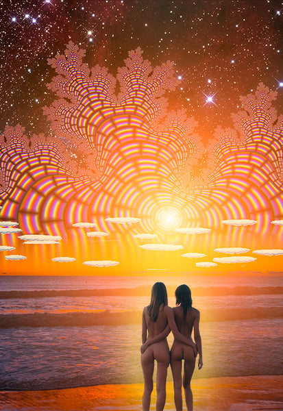 Fantastico Sunset - psychedelic art
